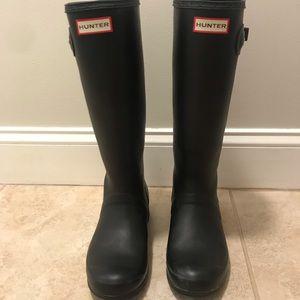 Hunter Original Tall Rain Boots Matte Black